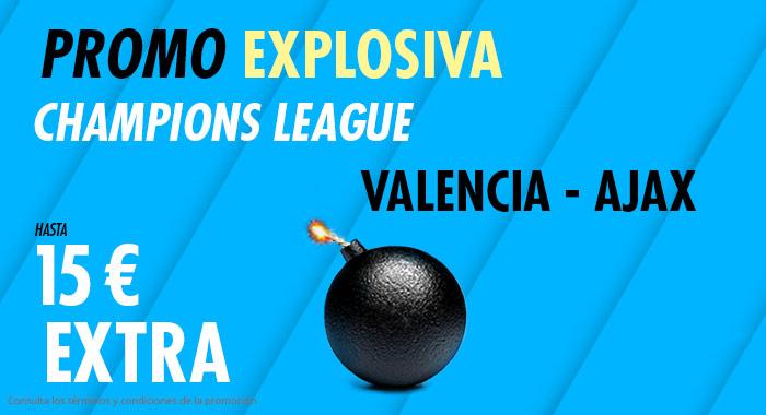 Suertia: Valencia vs. Ajax. Llévate 15€ EXTRA con tu apuesta