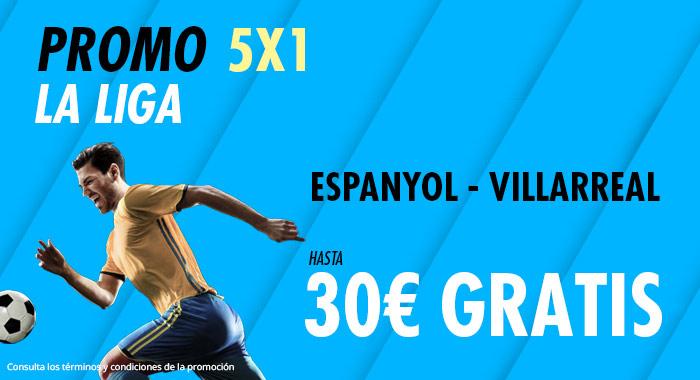 Suertia: Espanyol vs. Villarreal. Haz tu apuesta y llévate hasta 30€ GRATIS