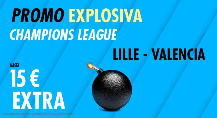 Suertia: Lille vs. Valencia. Llévate 15€ EXTRA con tu apuesta
