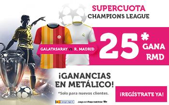 Wanabet: Galatasaray vs. Real Madrid @25.0 + 100€