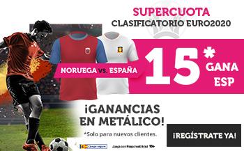 Wanabet: Noruega vs. España @15.0 + 100€