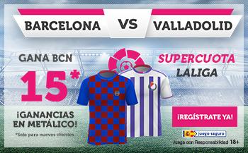 Wanabet: FC Barcelona @15.0 vs. Valladolid + 100€