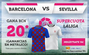 Wanabet: FC Barcelona @20.0 vs. Sevilla + 100€