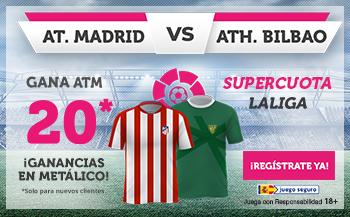 Wanabet: At. Madrid @20.0 vs. Ath. Bilbao + 100€