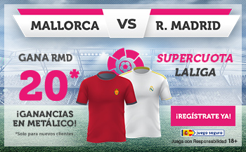 Wanabet: Mallorca vs. Real Madrid @20.0 + 100€