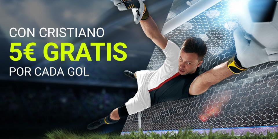 Luckia: Inter vs. Juventus. 5€ por cada gol de Cristiano