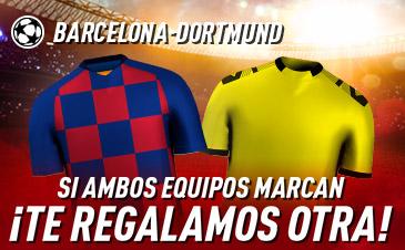 Sportium: FC Barcelona vs Borussia Dortmund. Si ambos marcan… ¡Devolución!