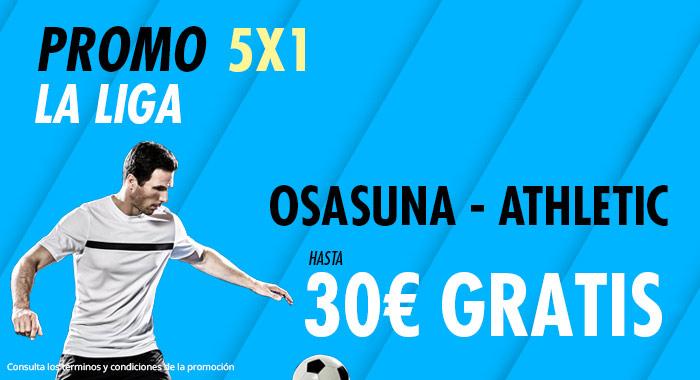 Suertia: Osasuna – Ath. Bilbao. Haz tu apuesta y llévate hasta 30€ GRATIS