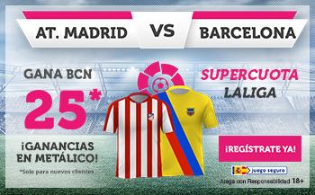 Wanabet: At. Madrid vs. FC Barcelona @25.0 + 100€