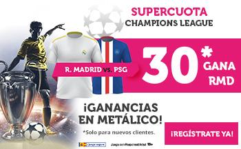 Wanabet: Real Madrid @30.0 vs. PSG + 100€