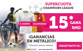 Wanabet: Real Madrid @15.0 vs. Galatasaray + 100€