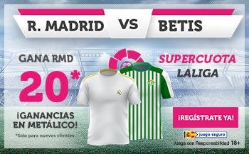 Wanabet: Real Madrid @20.0 vs. Betis + 100€