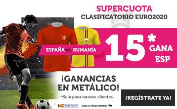 Wanabet: España @15.0 vs. Rumania + 100€